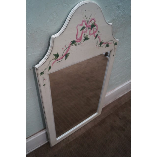 Hand Painted Venetian Andrea Davinci Braun Mirror For Sale - Image 4 of 10