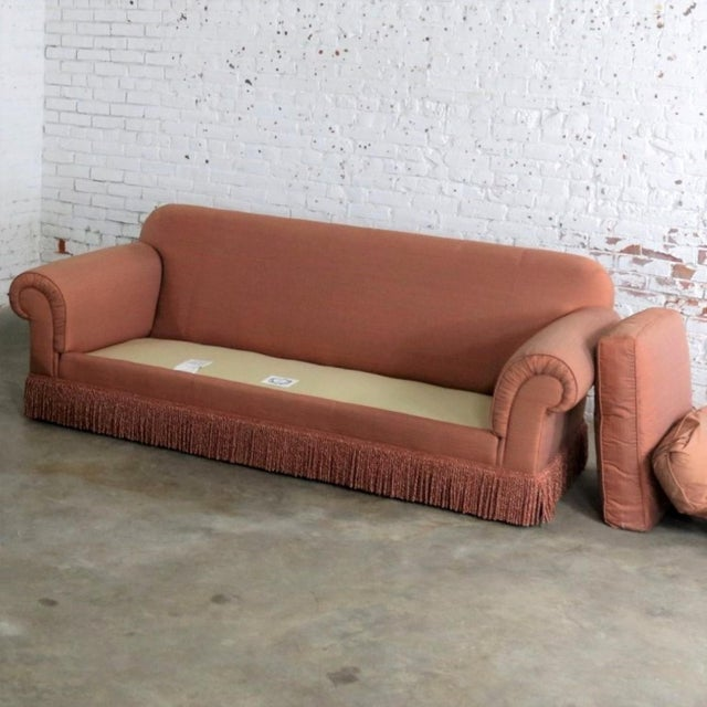 Baker Sofa Lawson Style From the Crown and Tulip Collection Terracotta For Sale - Image 11 of 13