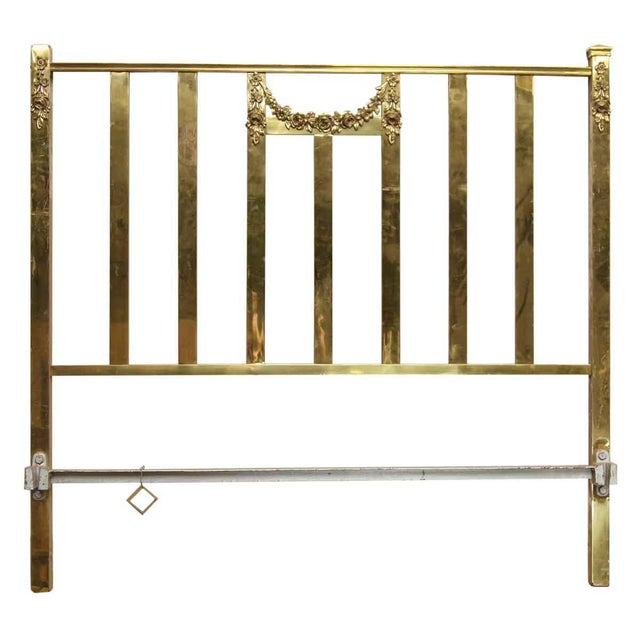 Mid 20th Century Vintage Mid-Century Full Size Brass Bedframe For Sale - Image 5 of 10