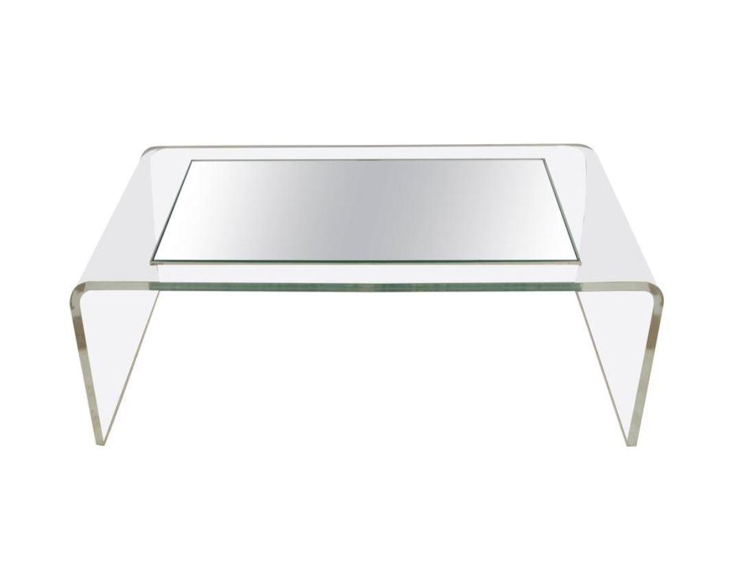 Modern Lucite Waterfall Coffee Table, 1970s  Chairish