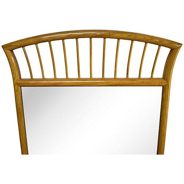 Oak Frame Mirror For Sale - Image 4 of 7