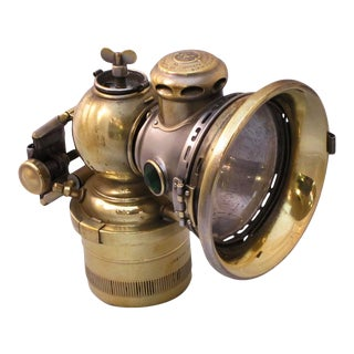 English Bicycle Lamp of Brass, Lucas Calcia Toura For Sale