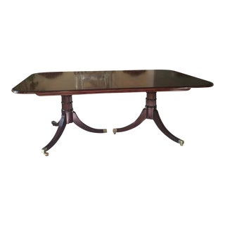 Baker Furniture Stately Homes Georgian Inlaid and Banded Extension Dining Room Table For Sale