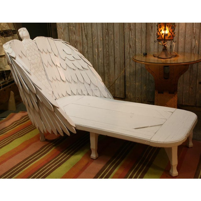Americana Antique Eagle Chaise Lounge For Sale - Image 3 of 9