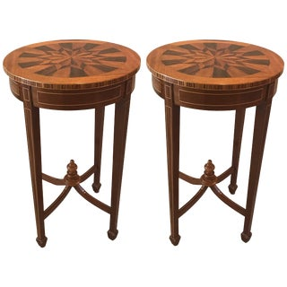20th Century Traditioinal Diminutive Side Tables - a Pair