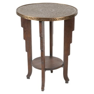 Brass Top Occasional Table For Sale