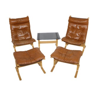 Ingmar Relling Siesta Chairs, Ottomans, and Table - Set of 5 For Sale