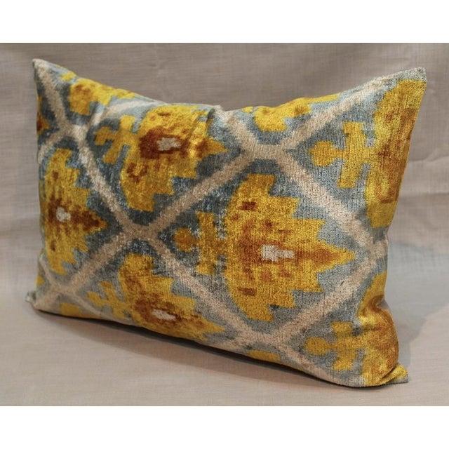 Lattice Ikat Silk Velvet Pillow - Image 3 of 4