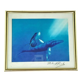 Ruth Mayer Galleries Whale Print Signed Richard Parrish For Sale