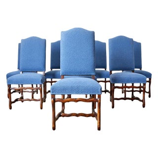 Set of Eight French Os De Mouton Style Dining Chairs For Sale