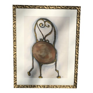 Contemporary French Abstract Chair Painting For Sale