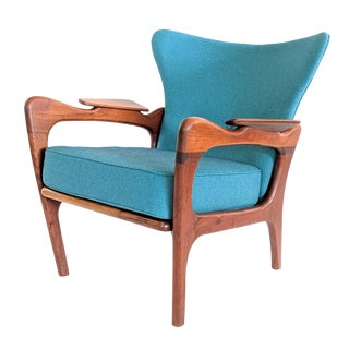 1960s Vintage Adrian Pearsall Vintage Wingback Chair For Sale