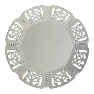 Reticulated Creamware Plate For Sale