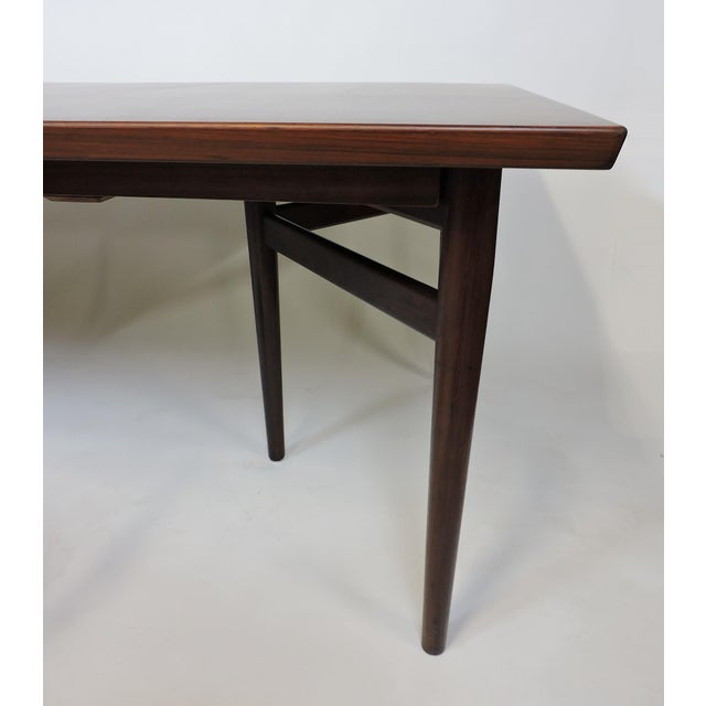 Arne Vodder Expandable Danish Modern Rosewood Dining Conference Table Model 201 For Sale - Image 11 of 13
