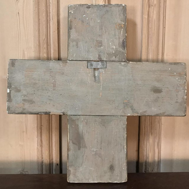 Gold 18th Century Italian Polychrome Cross For Sale - Image 8 of 9