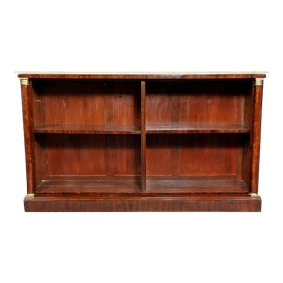 French Empire Mahogany Bookcase For Sale