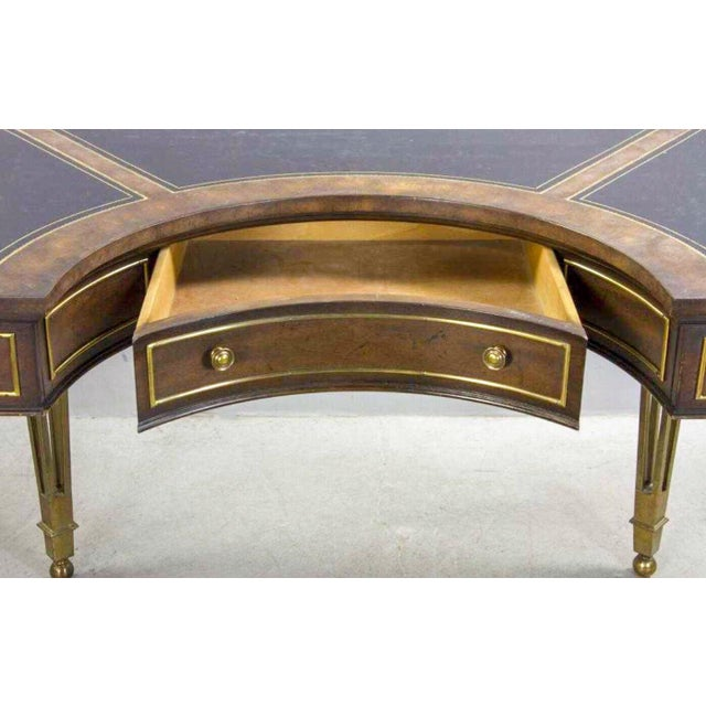 Mid-Century Modern Brass and Walnut Desk by Mastercraft For Sale - Image 3 of 10