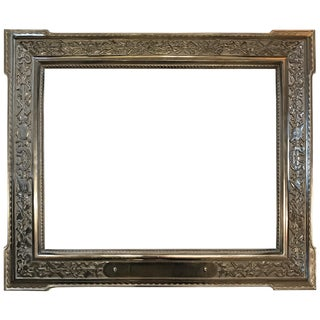 French 19th Century Nickle Foundry Picture Frame For Sale