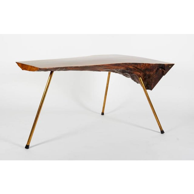 1950s Walnut Table by Carl Auböck For Sale - Image 5 of 7