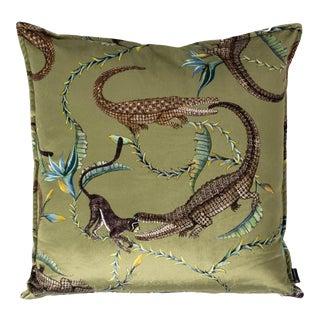 River Chase Delta Velvet Pillow For Sale