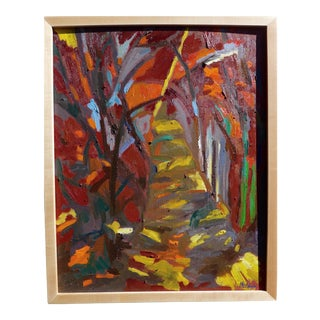 Path in the Woods in the Sunlight For Sale