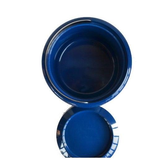 Vintage Danish Modern Cobalt Blue Ice Bucket For Sale In Atlanta - Image 6 of 9