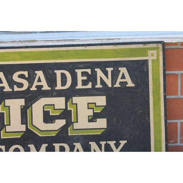 Early Pasadena Ice Company Trade Sign On Board From 1901 - Image 5 of 7