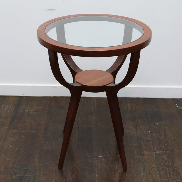 Glass Jlindrich Halabala Style Side Table For Sale - Image 7 of 7