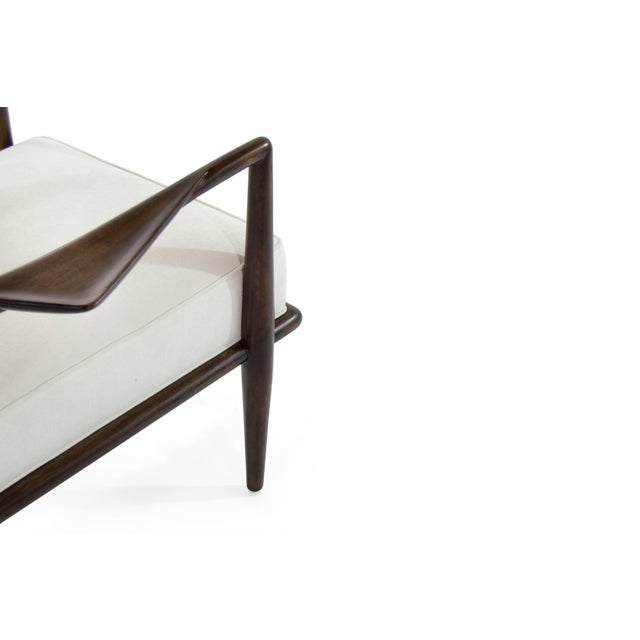 White T.H Robsjohn-Gibbings Wing Arm Lounge Chairs - a Pair For Sale - Image 8 of 11