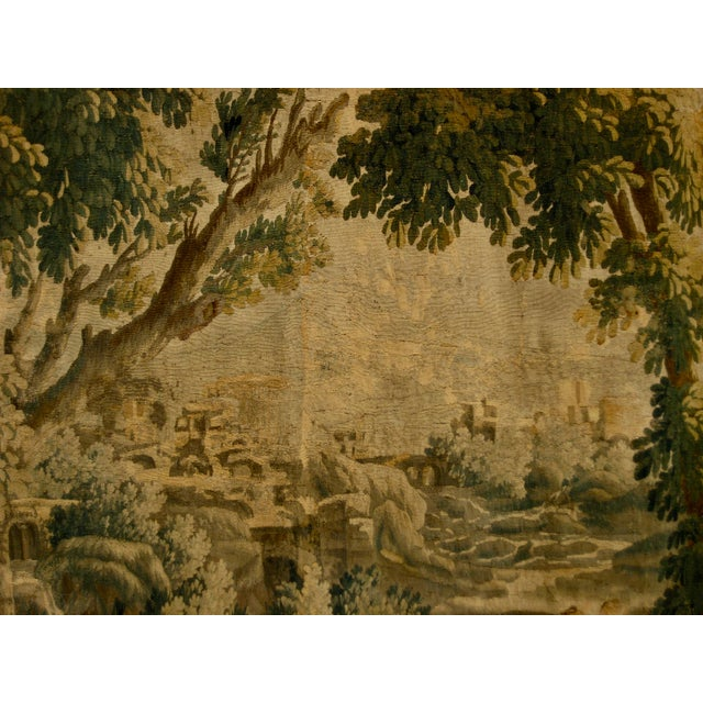 1700s French Aubusson Verdure Tapestry Wall Hanging For Sale - Image 9 of 11