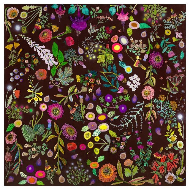 A collection of wildflowers blossom across a dark dramatic background in this colorful floral delight by Eli Halpin.Our...