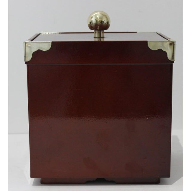 Brown MId-Century Modern Georges Briard Collections Limited Designs Ice Bucket For Sale - Image 8 of 13