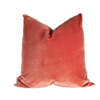 22 X 22 Harvest Rust Velvet Pillow For Sale