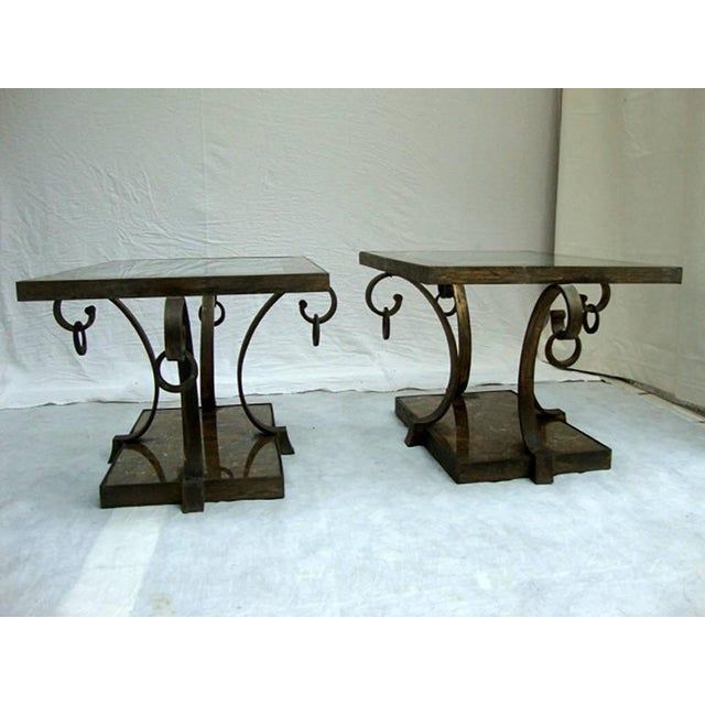Pair of Arturo Pani Brass Side Tables For Sale In San Diego - Image 6 of 9