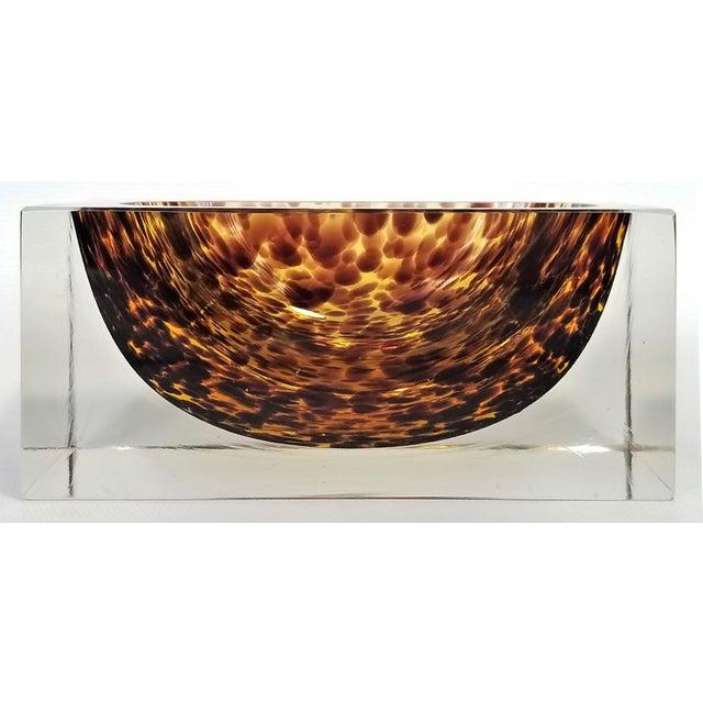 Exquisite Murano Glass Tortoiseshell Bowl by Alessandro Mandruzzato For Sale In Miami - Image 6 of 13
