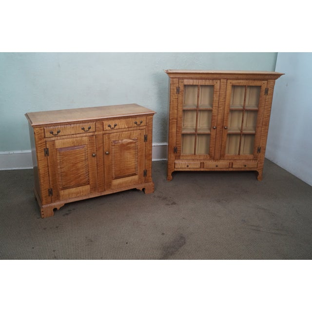 Custom Crafted Tiger Maple Dutch Cupboard - Image 10 of 10