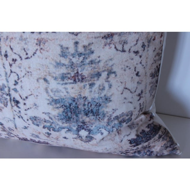 "Vintage Blue & White Pillow Print Cover - 18"" x 18"" - A Pair For Sale - Image 5 of 6"