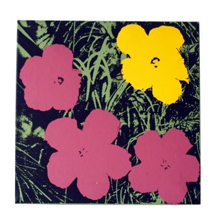 Andy Warhol Flowers on Canvas For Sale