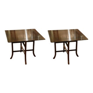 T.H. Robsjohn-Gibbings for Widdicomb Drink Tables - a Pair For Sale