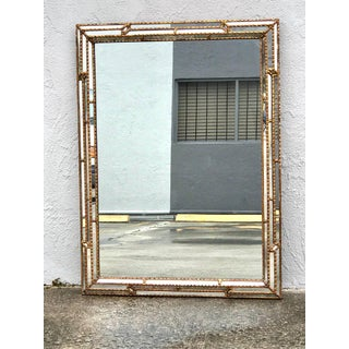 Large Rectangular Italian Carved Giltwood Mirror Preview