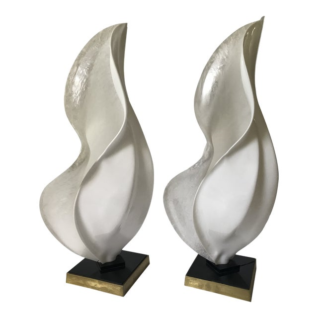 Rougier Mid-Century Modern Organic Free-Form Acrylic Table Lamps — Pair For Sale