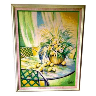 Palm Beach Style Vintage Original Oil Painting For Sale
