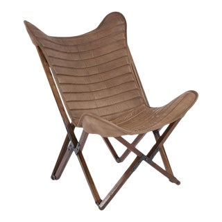 Kenneth Ludwig Leather Sling Chair For Sale