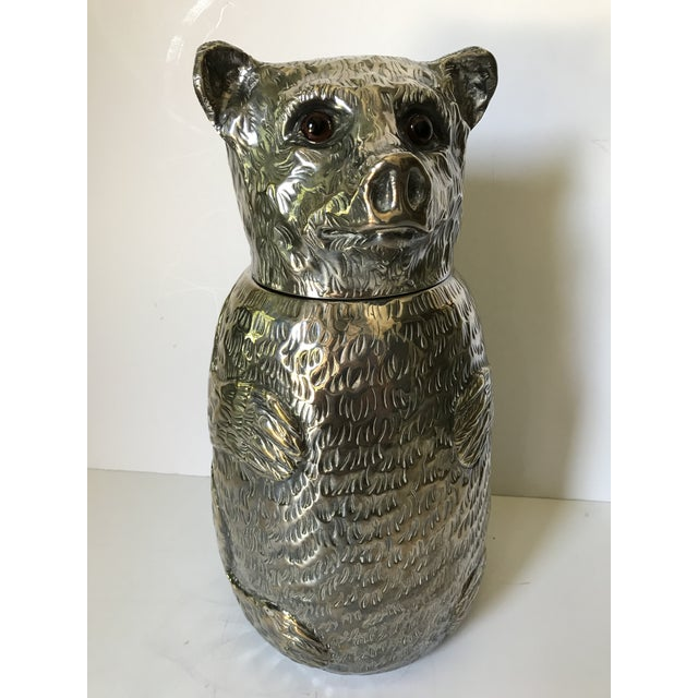 Italian Silver Plated Bear Wine Cooler For Sale - Image 12 of 12