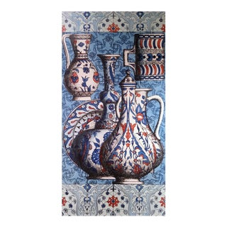 Vintage Piero Fornasetti Special Commission for Hilton Hotel, Istanbul- Large Iznik Design Plaque, 1950's.