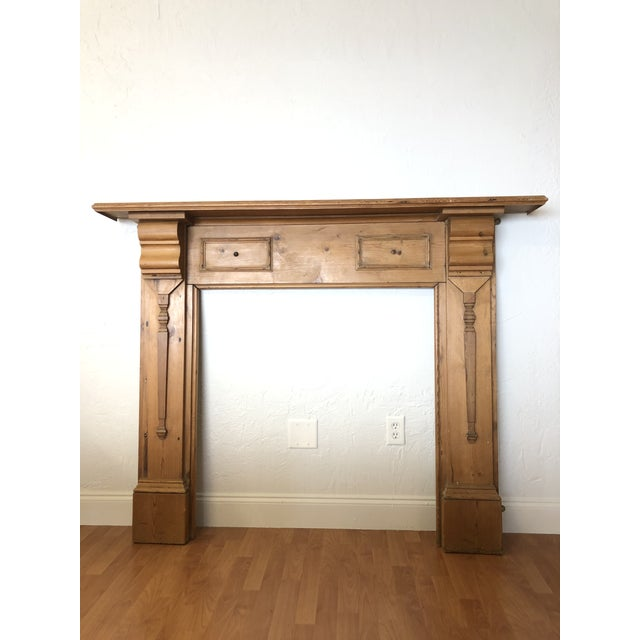 Wood Late 19th Century English Pine Mantel For Sale - Image 7 of 7