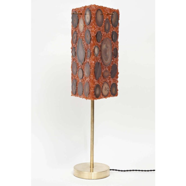 French Agate and Resin Table Lamp - Image 6 of 11