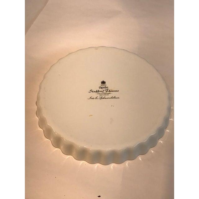 1980s Vintage Spode Stafford Porcelain Iris Tart Pan Plate For Sale In Detroit - Image 6 of 10