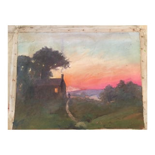 1900s Impressionist Landscape Oil Painting by F. Howard For Sale