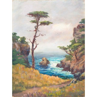 'Carmel Coast' by Francis Harvey Cutting, 1932-1948; California Plein Air Impressionist Oil, Oakland Museum For Sale